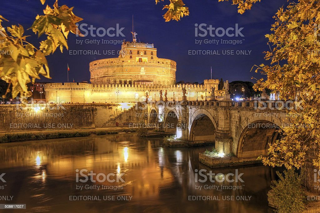Castel Sant'Angelo, Rome, Italy stock photo