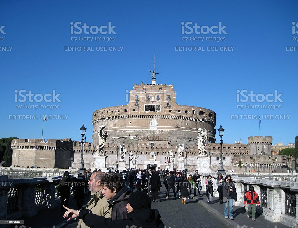 Castel Sant'Angelo, Rome royalty-free stock photo