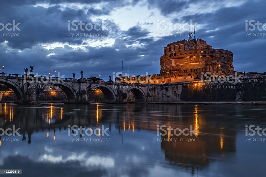 Castel Sant'Angelo, Rome stock photo
