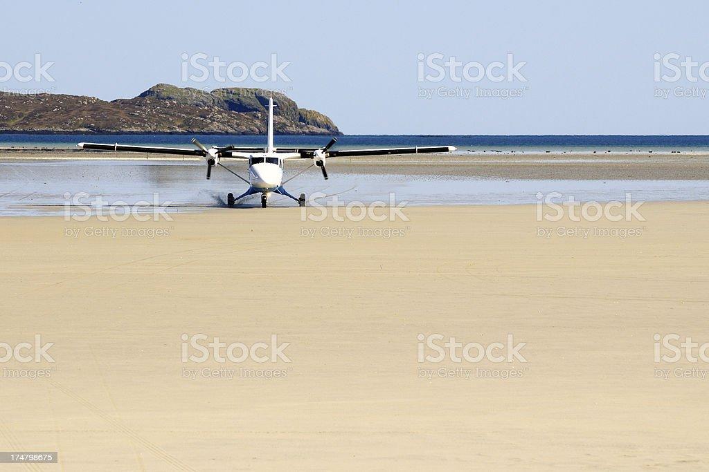 Castelbay Airport, island of Barra stock photo