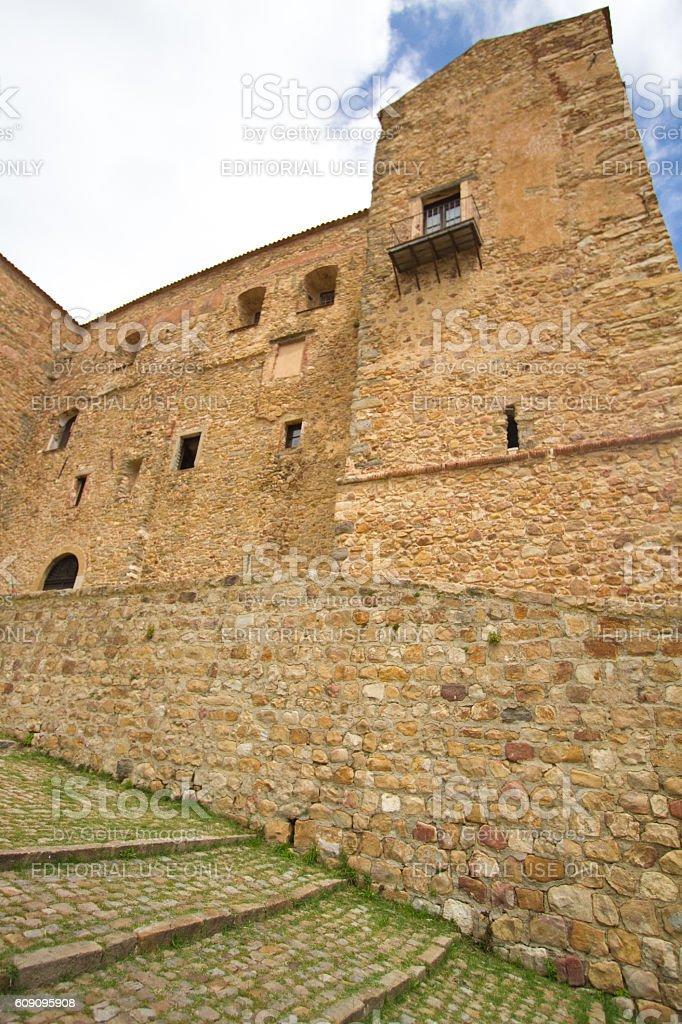 Castelbuono, Sicily: 14th-Century Norman-Arab Castle stock photo