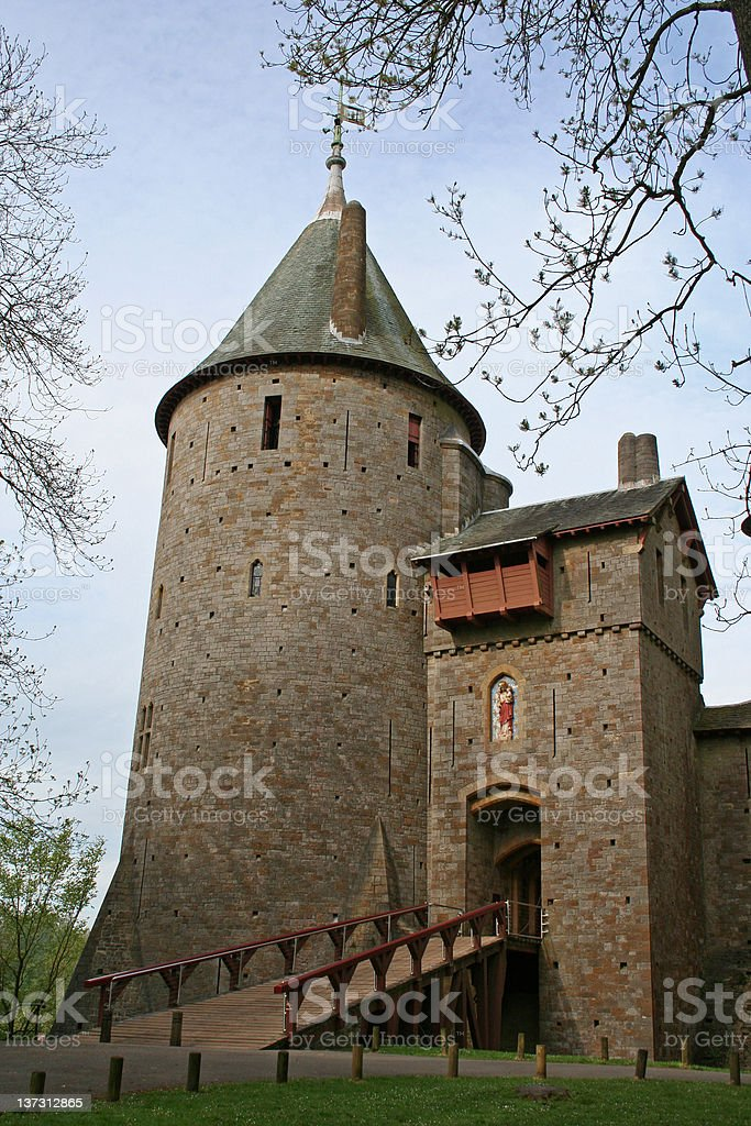 Castell Coch - Cardiff stock photo