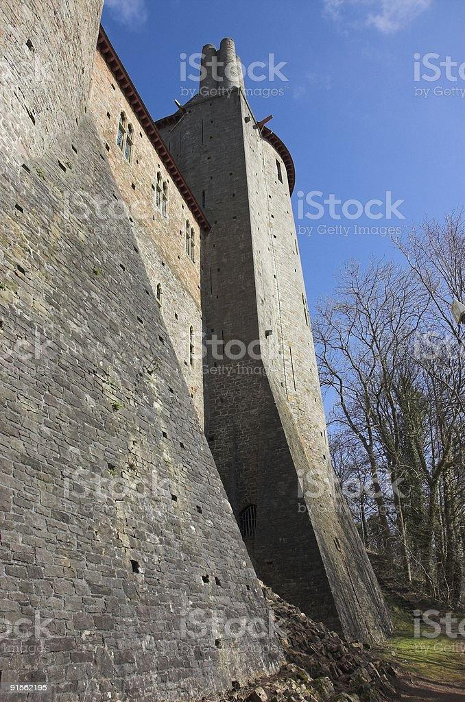 Castell Coch Walls stock photo