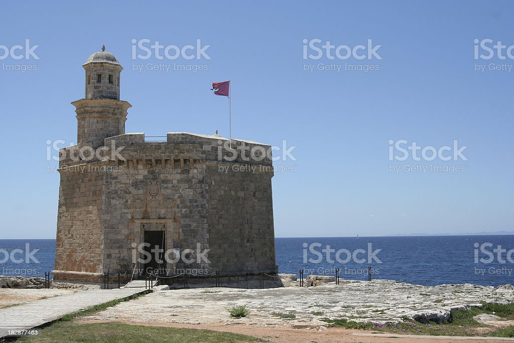 Castell de Sant Nicolau stock photo