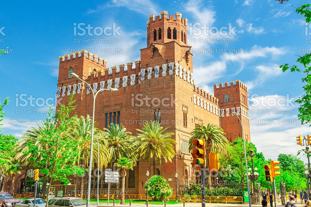 Castell dels Tres Dragons, Catalonia, Spain stock photo