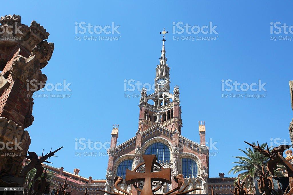 Castell dels tres dragons exterior stock photo