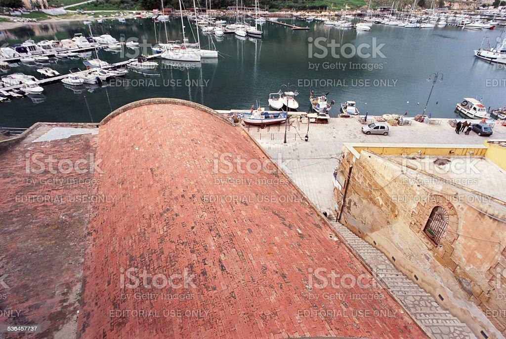 Castellammare del Golfo, harbour stock photo