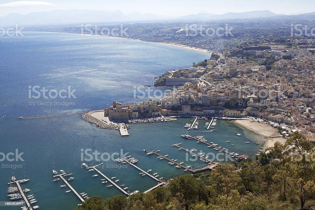 Castellammare del Golfo seaport bis royalty-free stock photo
