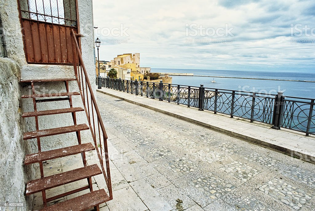 Castellammare del Golfo, Sicily - urban street stock photo