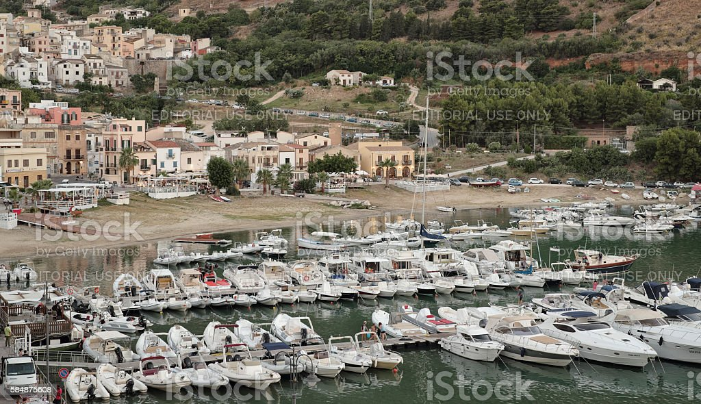 Castellammare del Golfo: the harbour stock photo