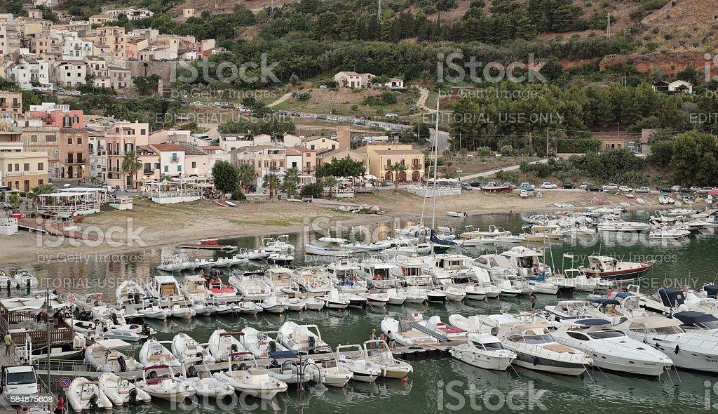 Castellammare del Golfo: the harbour stock photo