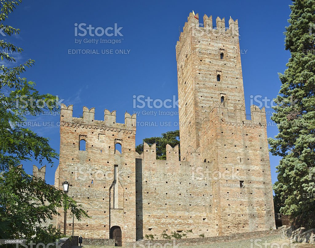 Castell'Arquato Medieval Castle, Italy royalty-free stock photo