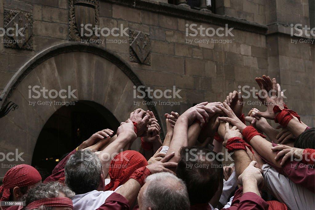 Castellers stock photo