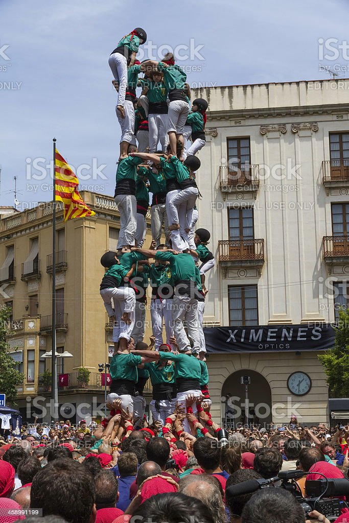 Castellers royalty-free stock photo