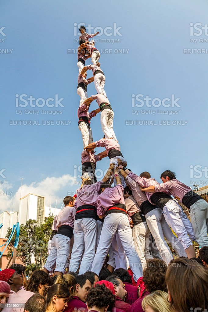 Castellers stock photo