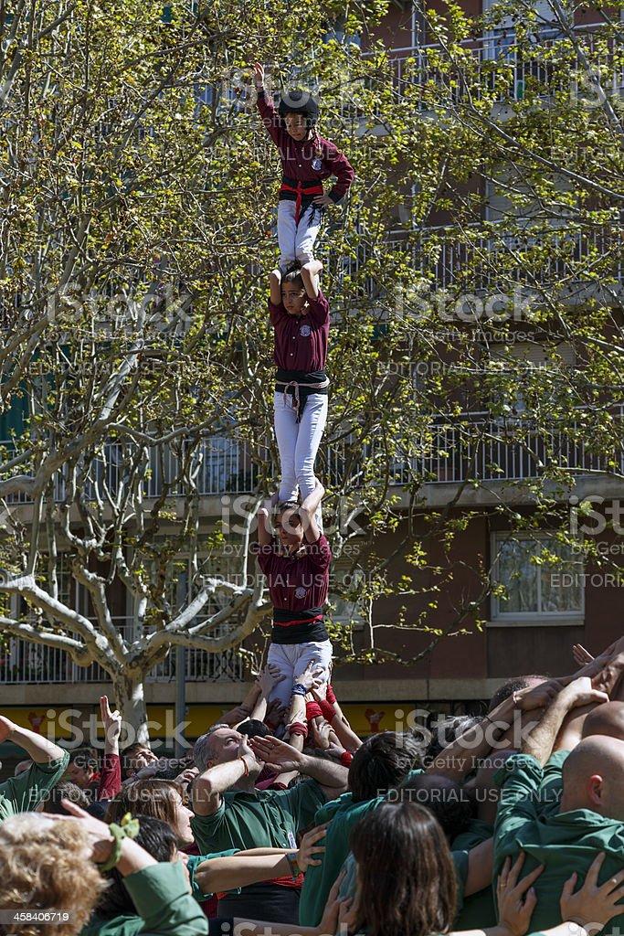 Castellers Sant Cugat 2013 royalty-free stock photo