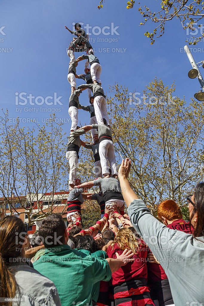 Castellers Sant Cugat 2013 stock photo