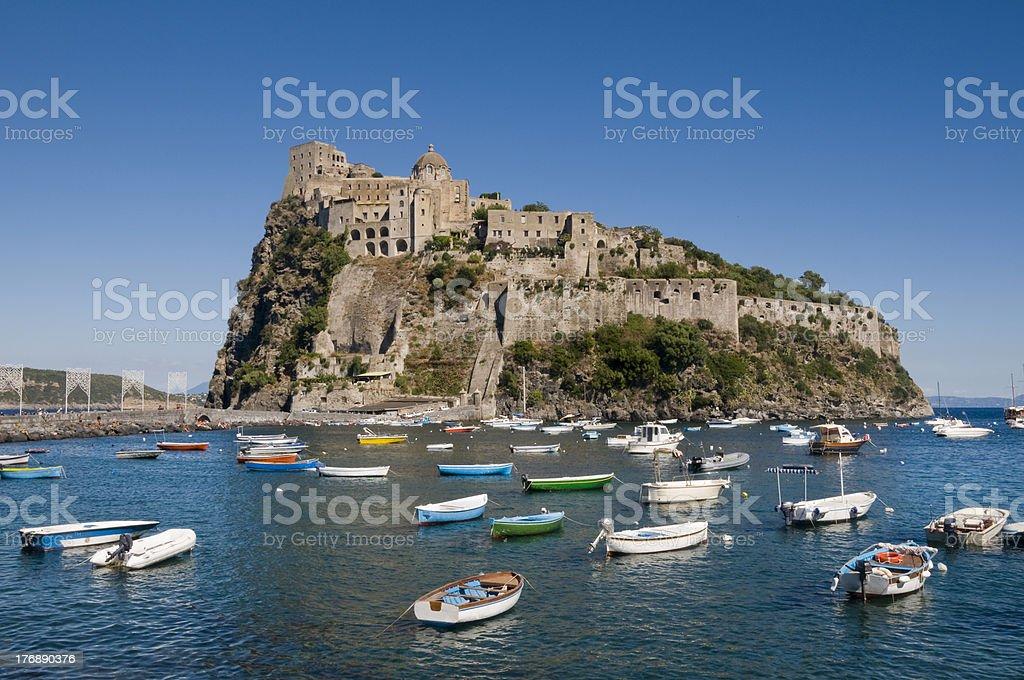 Castello Aragonese in Ischia Ponte stock photo