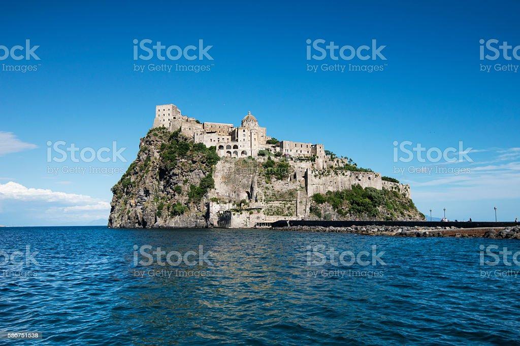 Castello Aragonese, island of Ischia, Italy stock photo