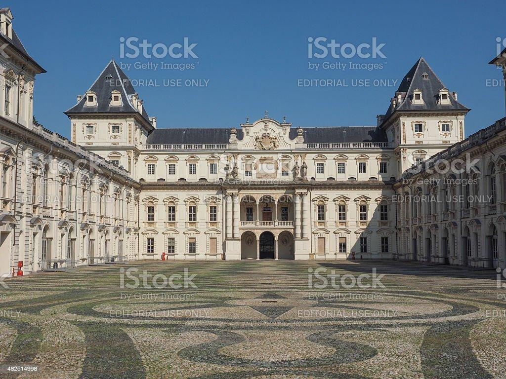 Castello del Valentino in Turin stock photo