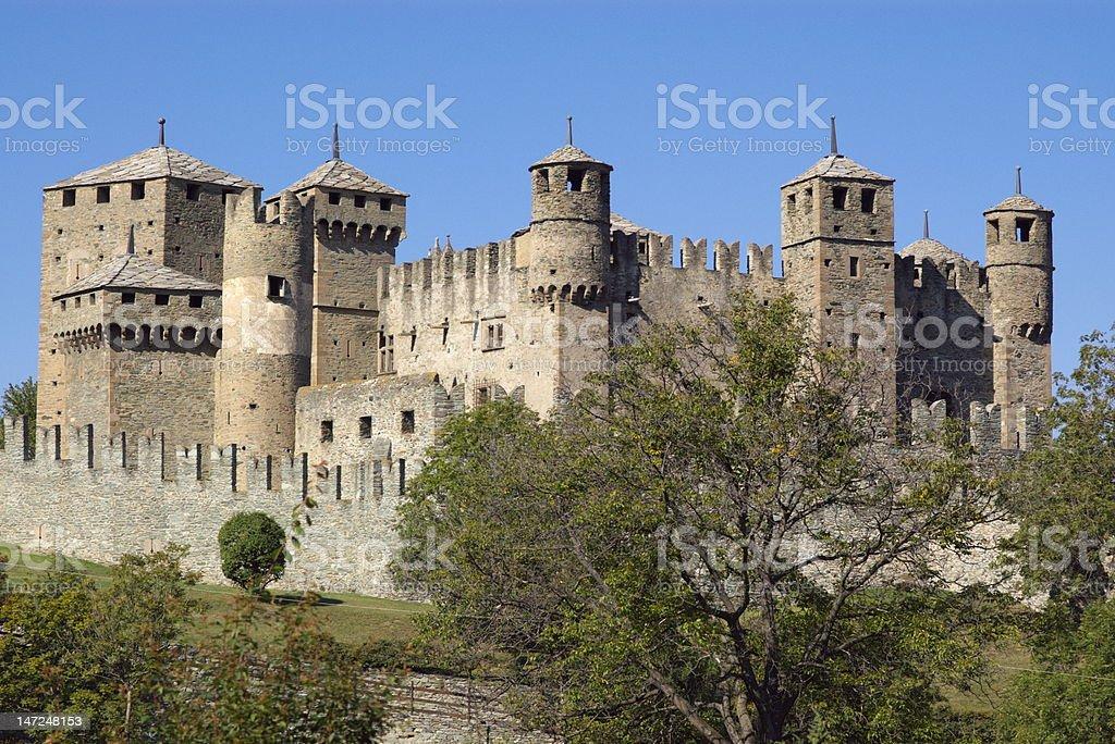 Castello di Fenis royalty-free stock photo