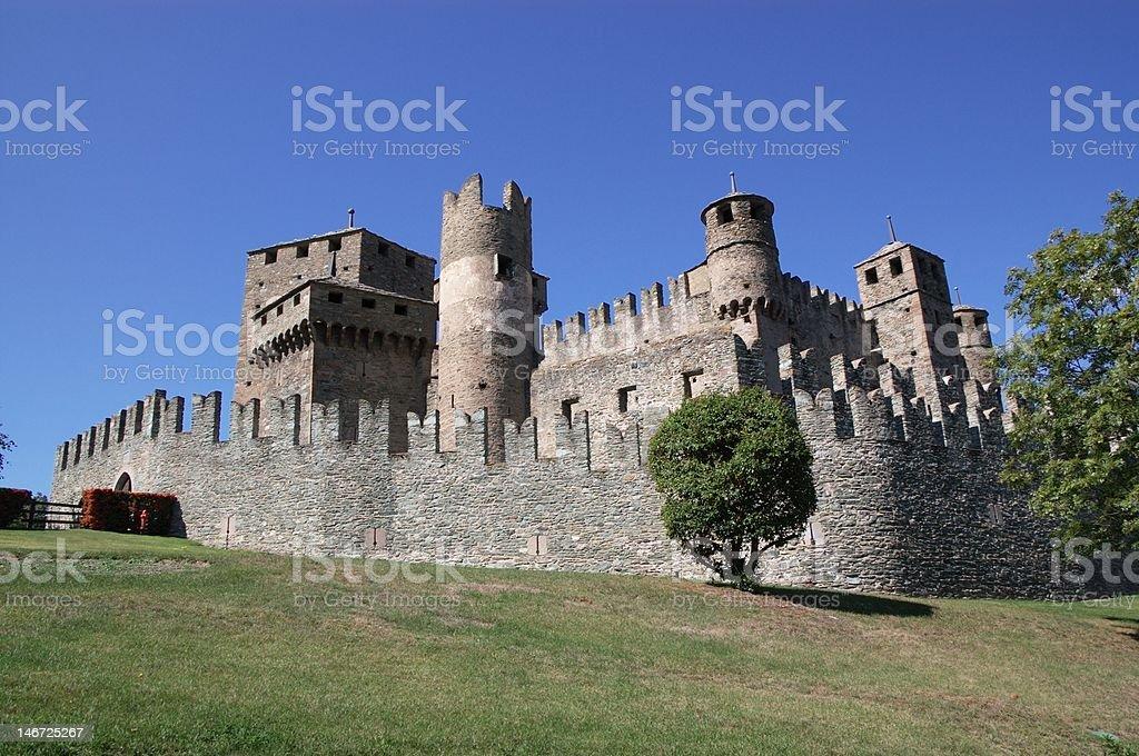 castello di Finis, Aosta, Italy stock photo