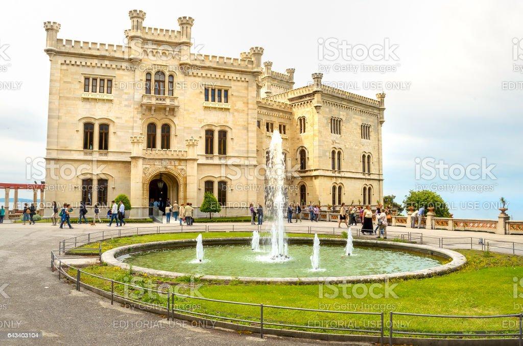 Castello di Miramare in Trieste Friuli Venezia Giulia italian castle stock photo