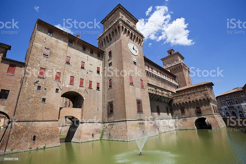Castello Estense Ferrara Italy stock photo