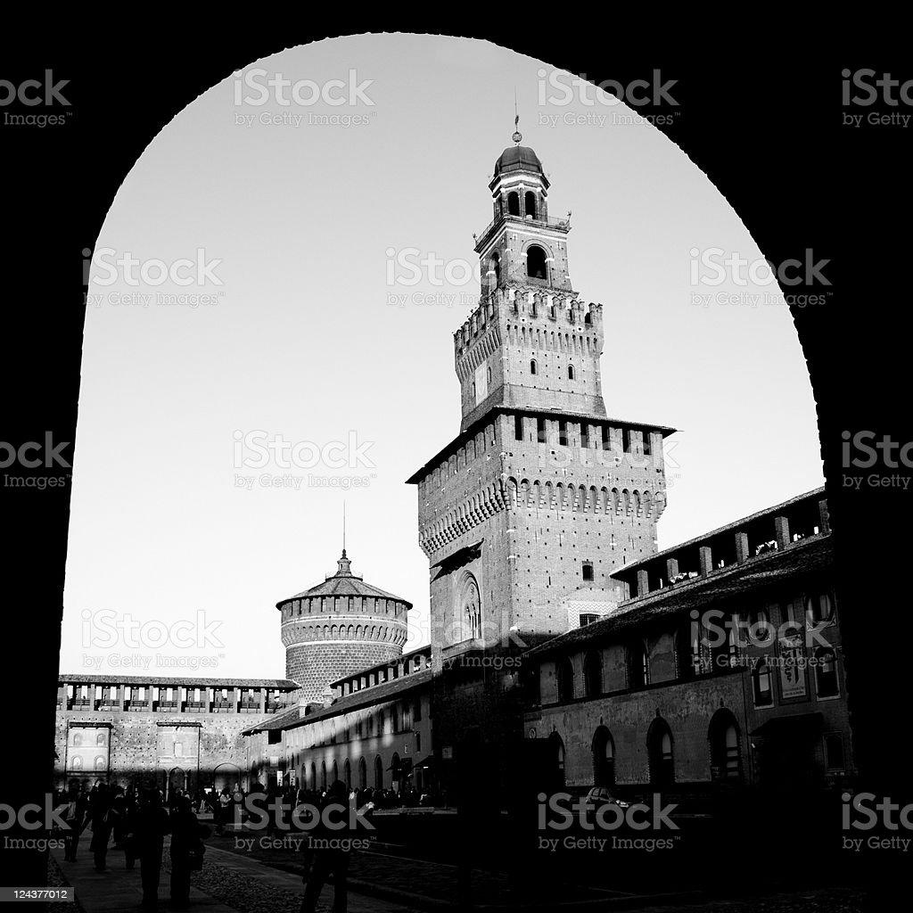 Castello Sforzersco - Milan, Italy stock photo
