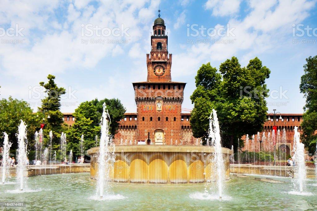 Castello Sforzesco in Milan, Italy royalty-free stock photo