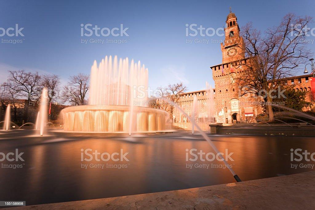 Castello Sforzesco in Milan stock photo