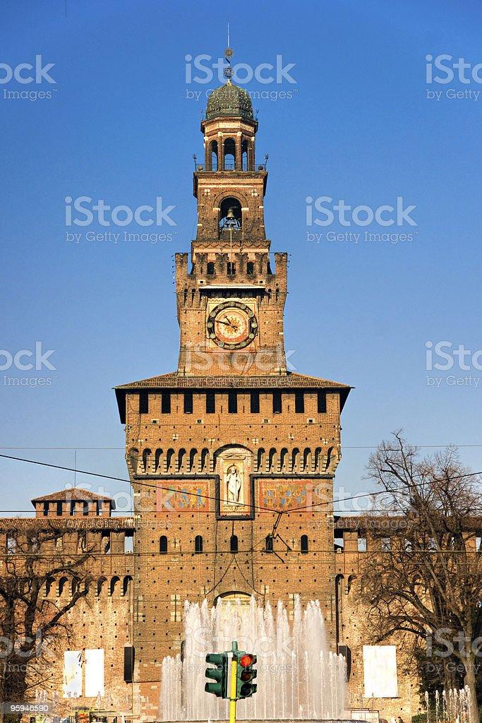 Castello Sforzesco, Milan, Italy. stock photo