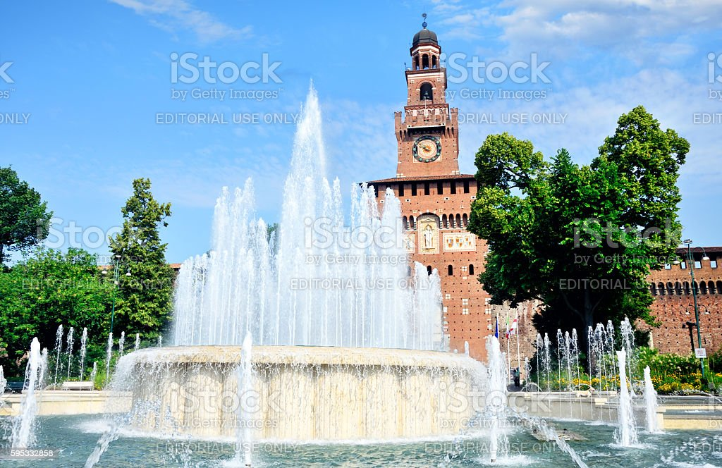 Castello Sforzesco, Milan stock photo