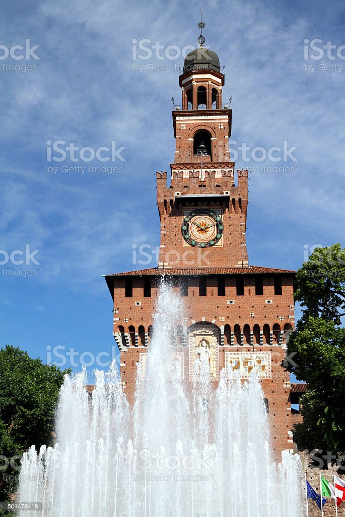 Castello Sforzesco stock photo