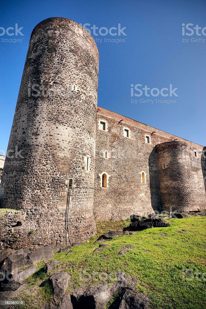 Castello Ursino in Catania Sicily stock photo