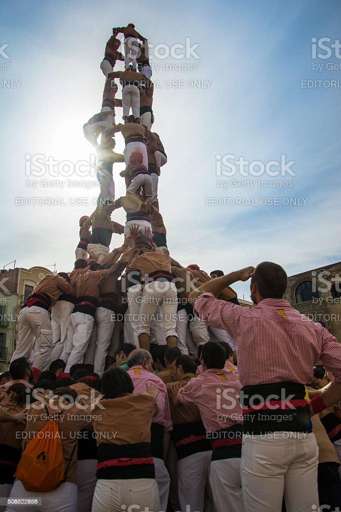 Castells Performance, stock photo