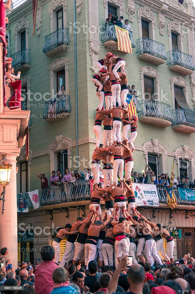 Castells Performance stock photo