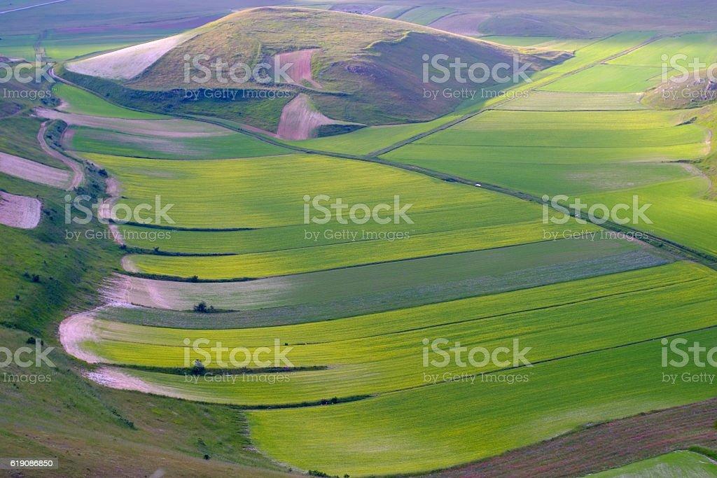 Castelluccio di Norcia stock photo