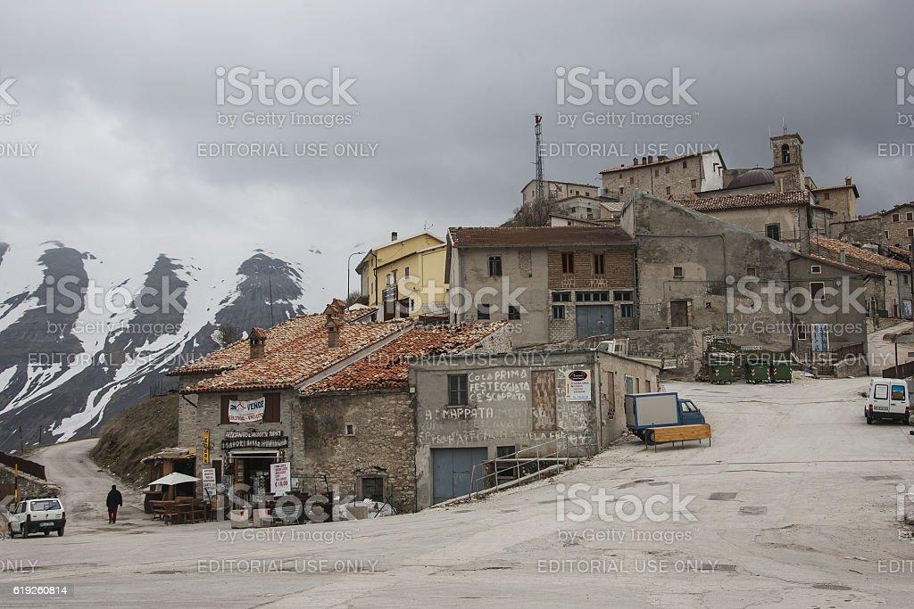 Castelluccio of Norcia in Umbria, Italy. stock photo