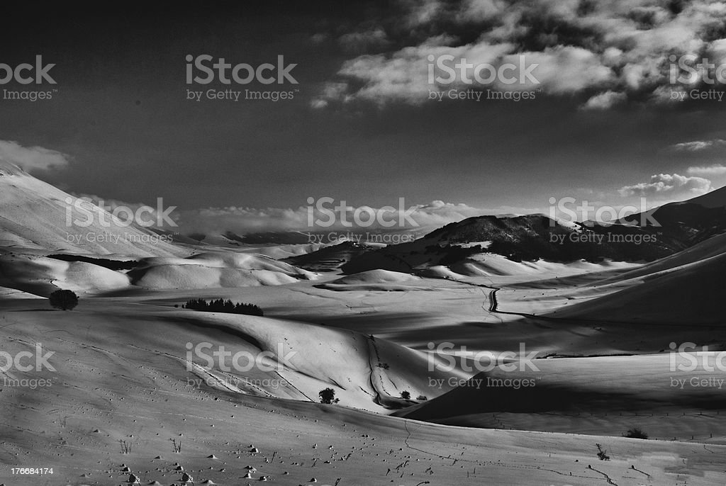Castelluccio di norcia royalty-free stock photo
