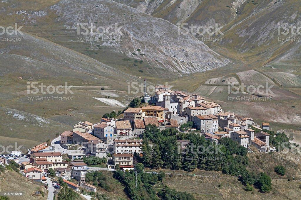 Castelluccio stock photo