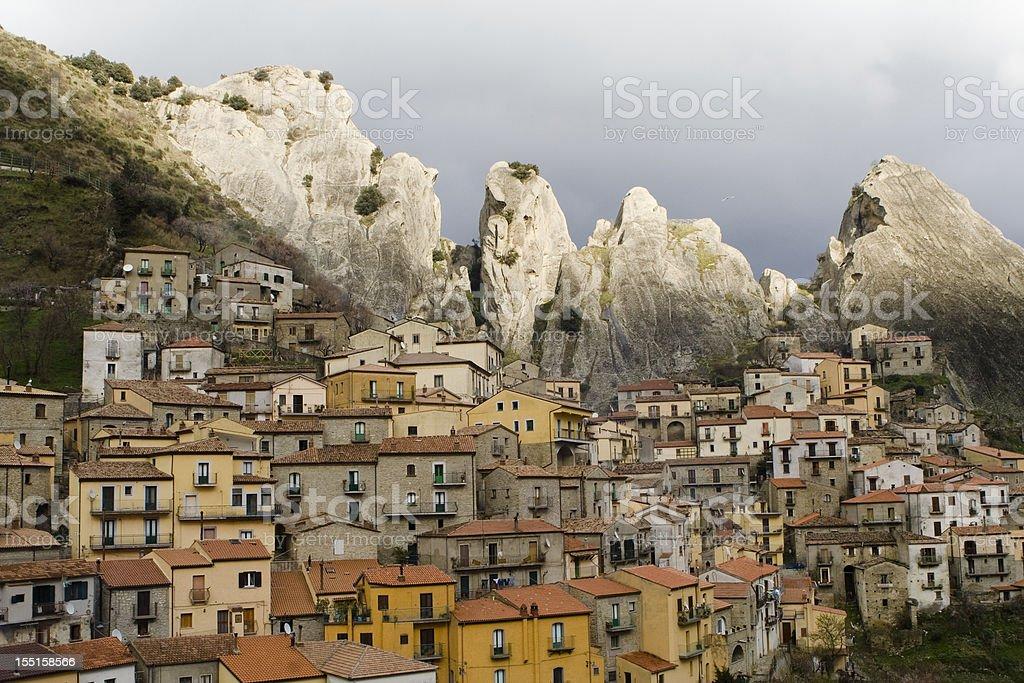 Castelmezzano Town stock photo