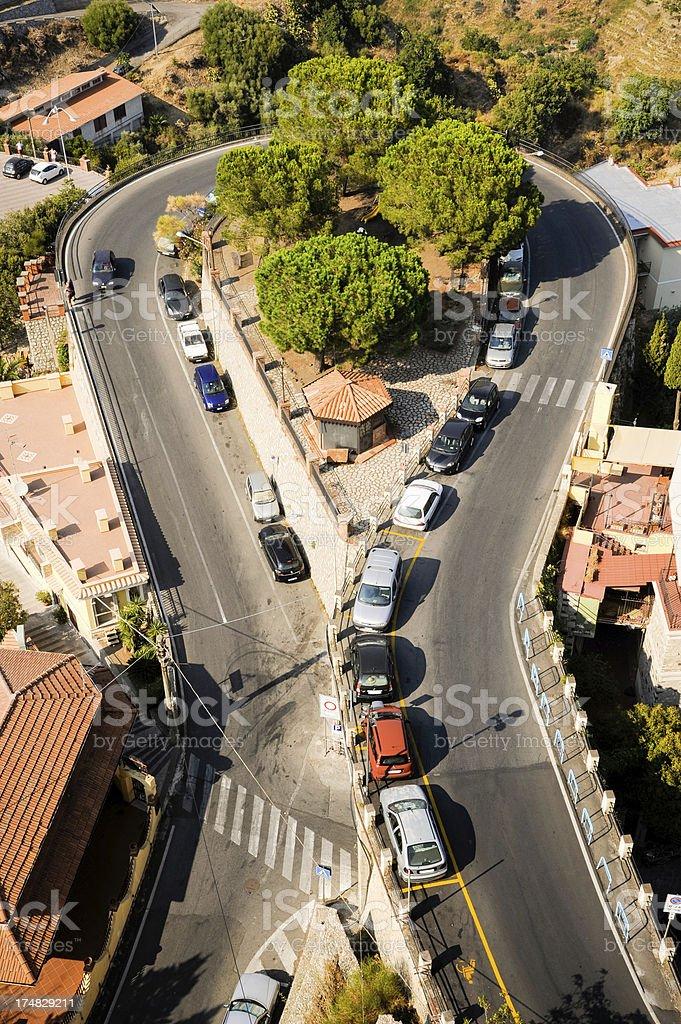 Castelmola Sicily royalty-free stock photo