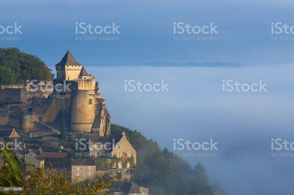 Castelnaud Castle - Dordogne-Perigord stock photo
