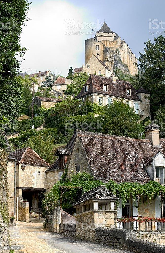 Castelnaud, France stock photo