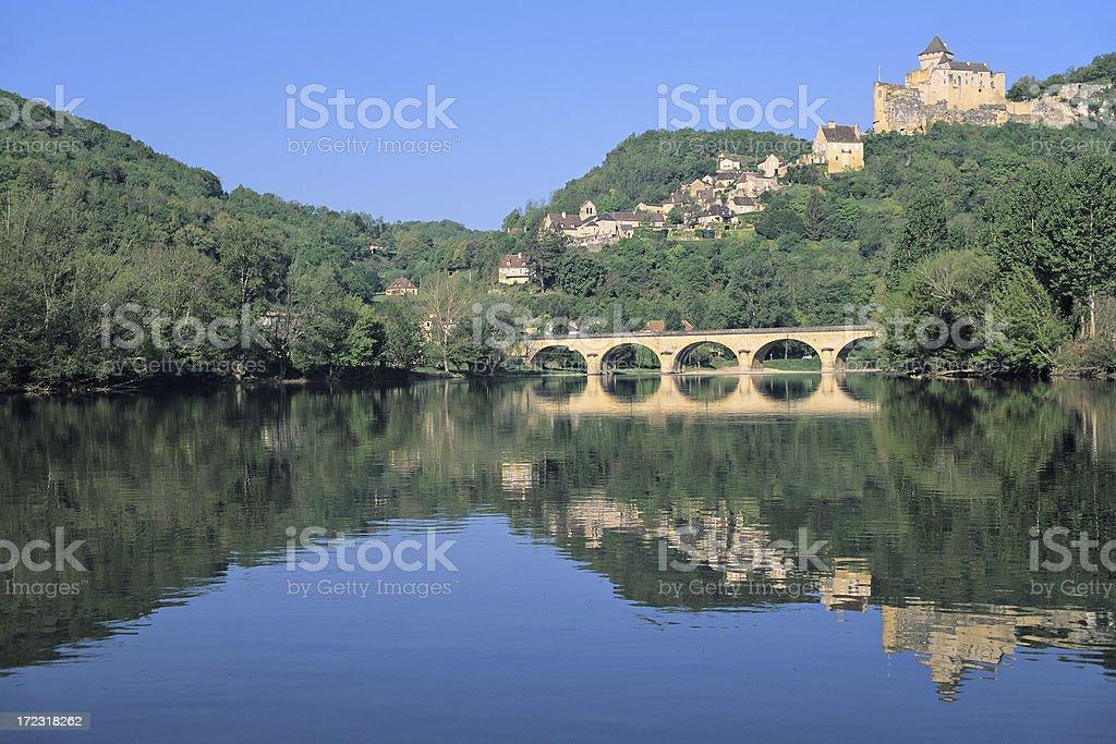 Castelnaud on the Dordgne stock photo