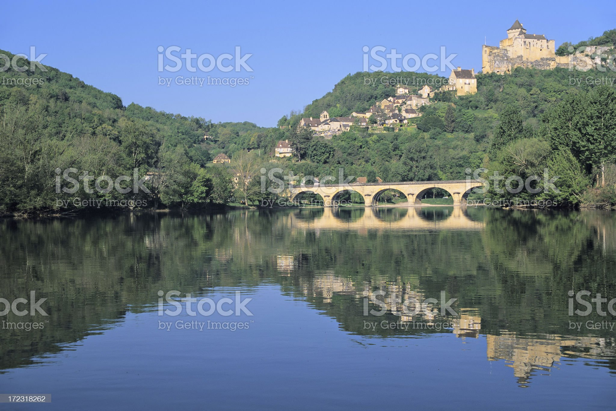 Castelnaud on the Dordgne royalty-free stock photo