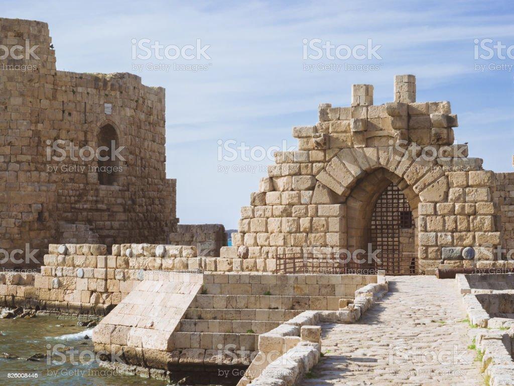 Castelo do mar stock photo