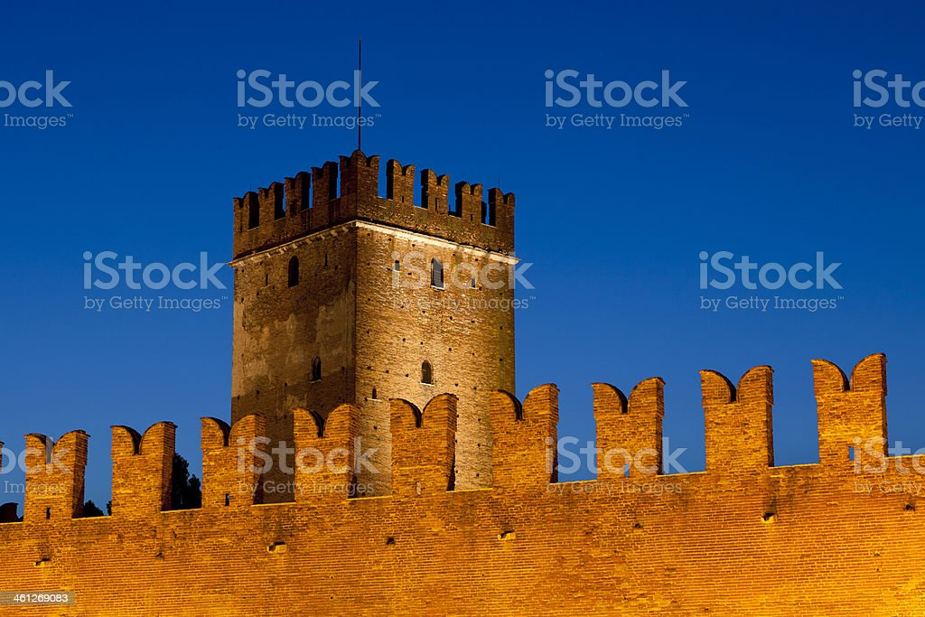 "Castelvecchio or ""Old Castle"" in Verona, Italy royalty-free stock photo"