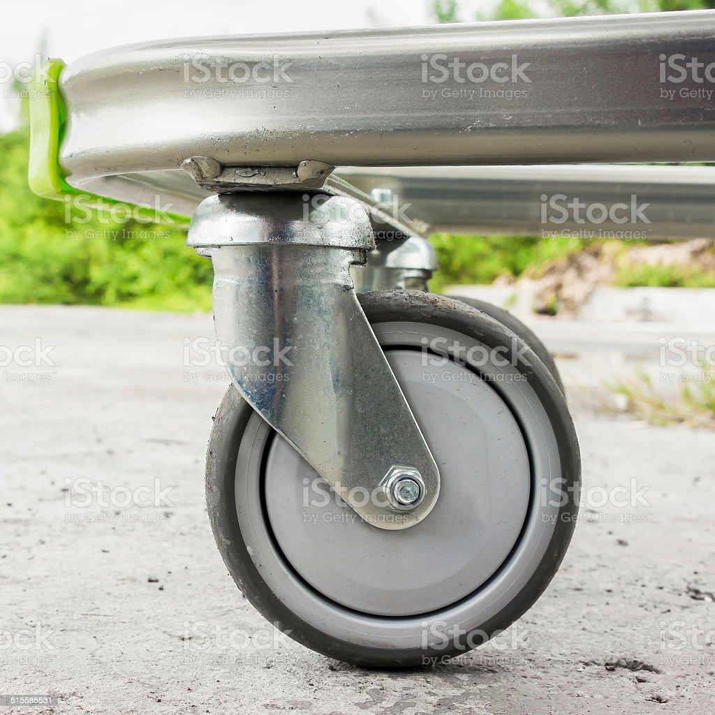 Caster wheel stock photo